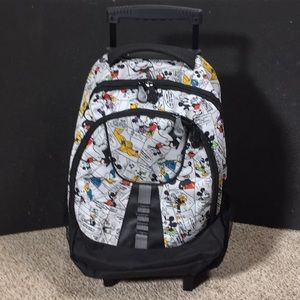 Disney Mickey Mouse Rolling Backpack Travel Bag